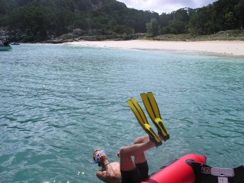 Snorkelling at Isles Cies