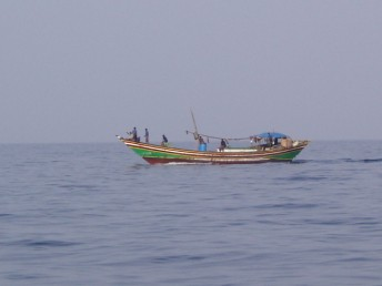 A local fishing boat.