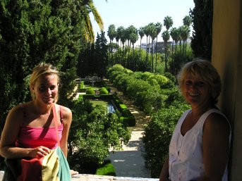 A bit of the Alcazar palace grounds