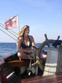 Amiria at the helm.