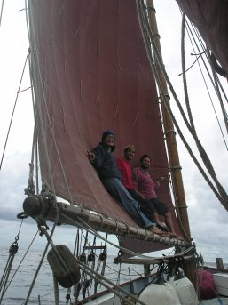 Standing in the mainsail