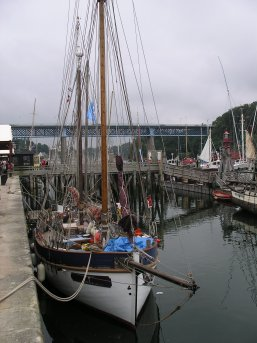 Moored in Douarnenez river
