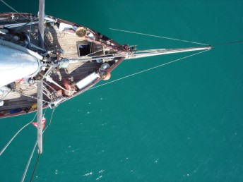 Foredeck from up the mast
