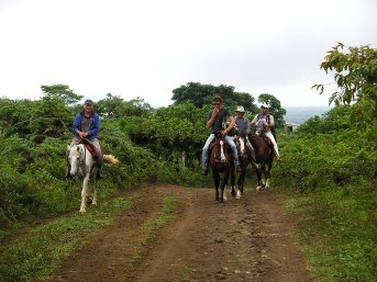 Some of the team on horses