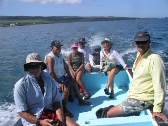 In the panga off to see the sights of Floreana