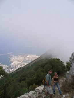 Cloud blowing over the top of Gibraltar