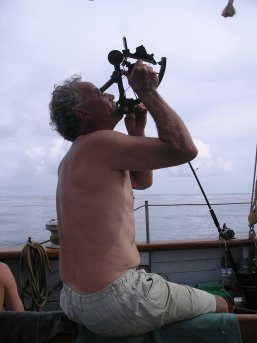 Ian on the sextant
