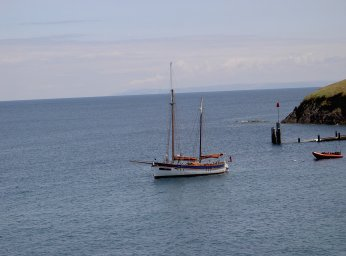 Sitting at anchor at Lundy
