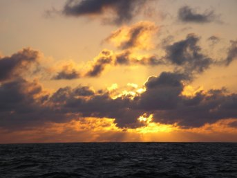 Picture Marquesas Pacific sunset 1