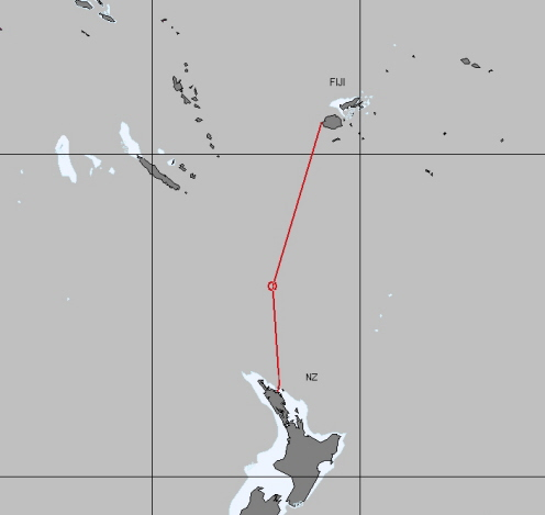 Route to New Zealand