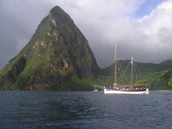 Moored between the Pitons