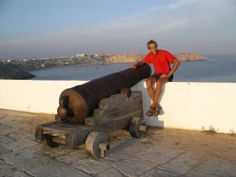 The fort at Sagres. Can you spot the boat ?