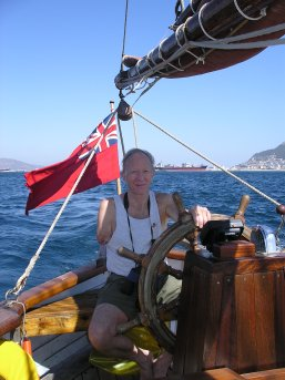 Maurice on the helm