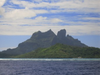 Views approaching Bora Bora