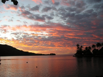 Picture Moorea sunset