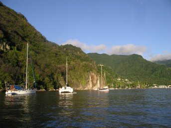 Moored in Soufriere, St Lucia