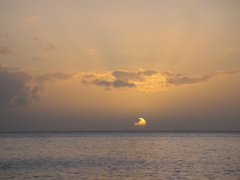 Picture St Lucia Sunset 1