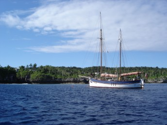 Moored off Niue