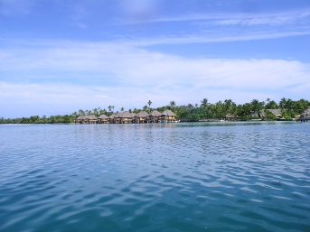 Snooty hotel with lovely over-water bungalows