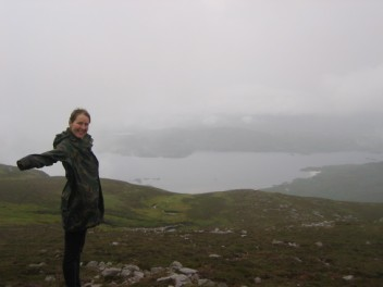 Katharine at top Jura