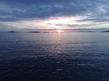 Sun set over Jura's islands