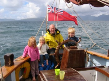 Tom and the wennits at the helm