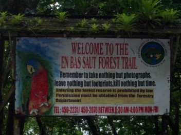 Entrance to forest, promoting conservation & care