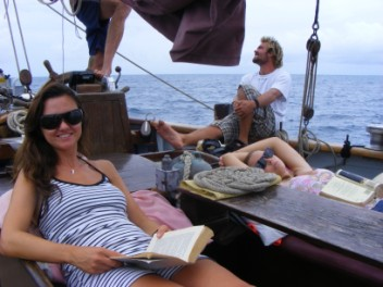 Emily, sailing to St Lucia