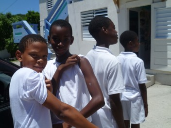Schoolboys branded with our Tropicbird tattoos