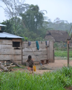 A village in the Amazon