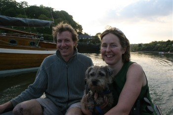 Lotty, David and Katharine at Roundwood Quay.